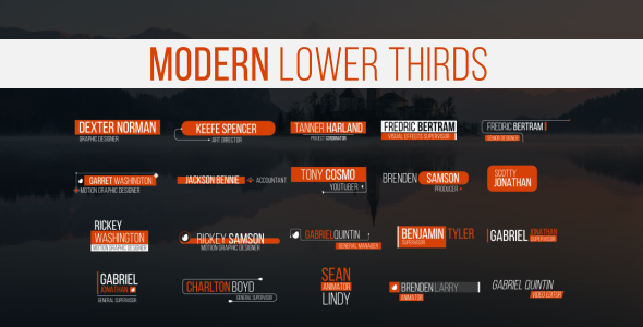 Lower Thirds - Download Videohive 20130067