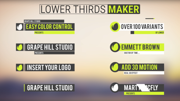 Lower Thirds Maker - Download Videohive 18189779