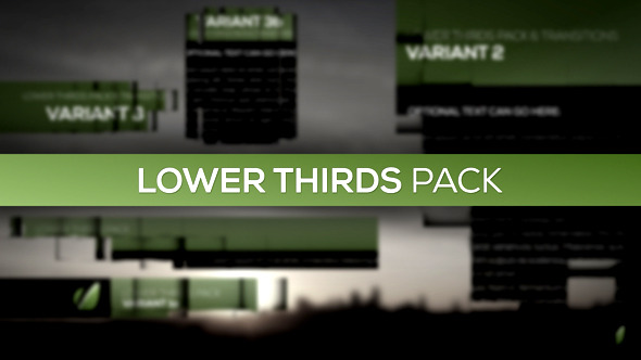 Lower Thirds Pack - Download Videohive 4101681