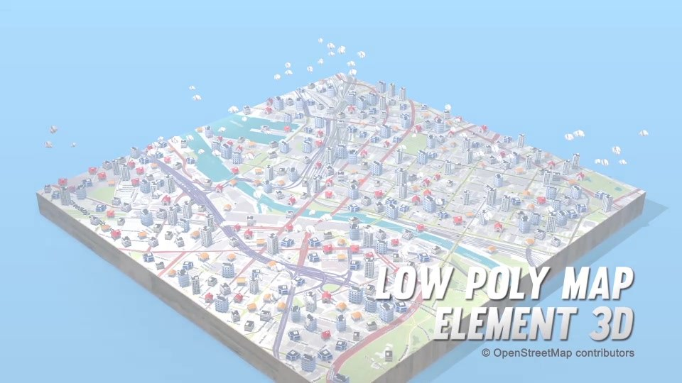 Lowpoly Map Element 3D - Download Videohive 19862081