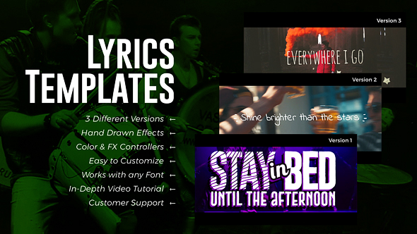 Lyrics Templates (3 Versions) - Download Videohive 20568839
