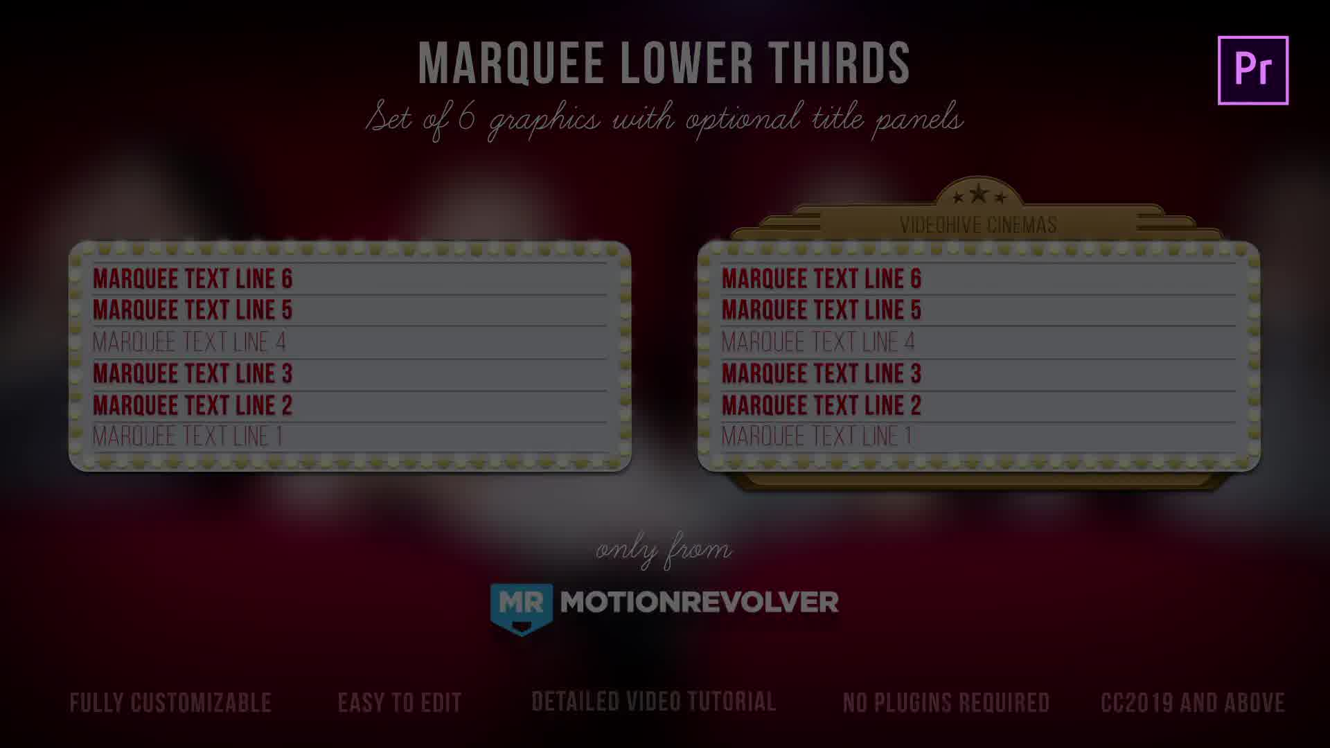 Marquee Lights Titles & Lower Thirds | MOGRT for Premiere Pro Videohive 24552539 Premiere Pro Image 10
