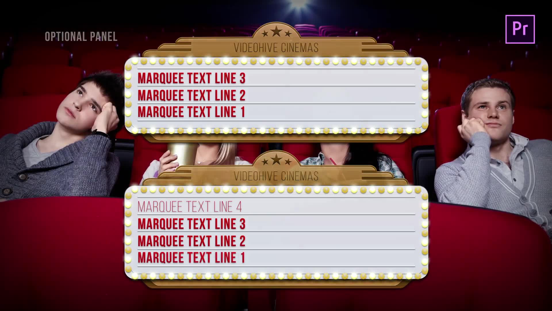 Marquee Lights Titles & Lower Thirds | MOGRT for Premiere Pro Videohive 24552539 Premiere Pro Image 7