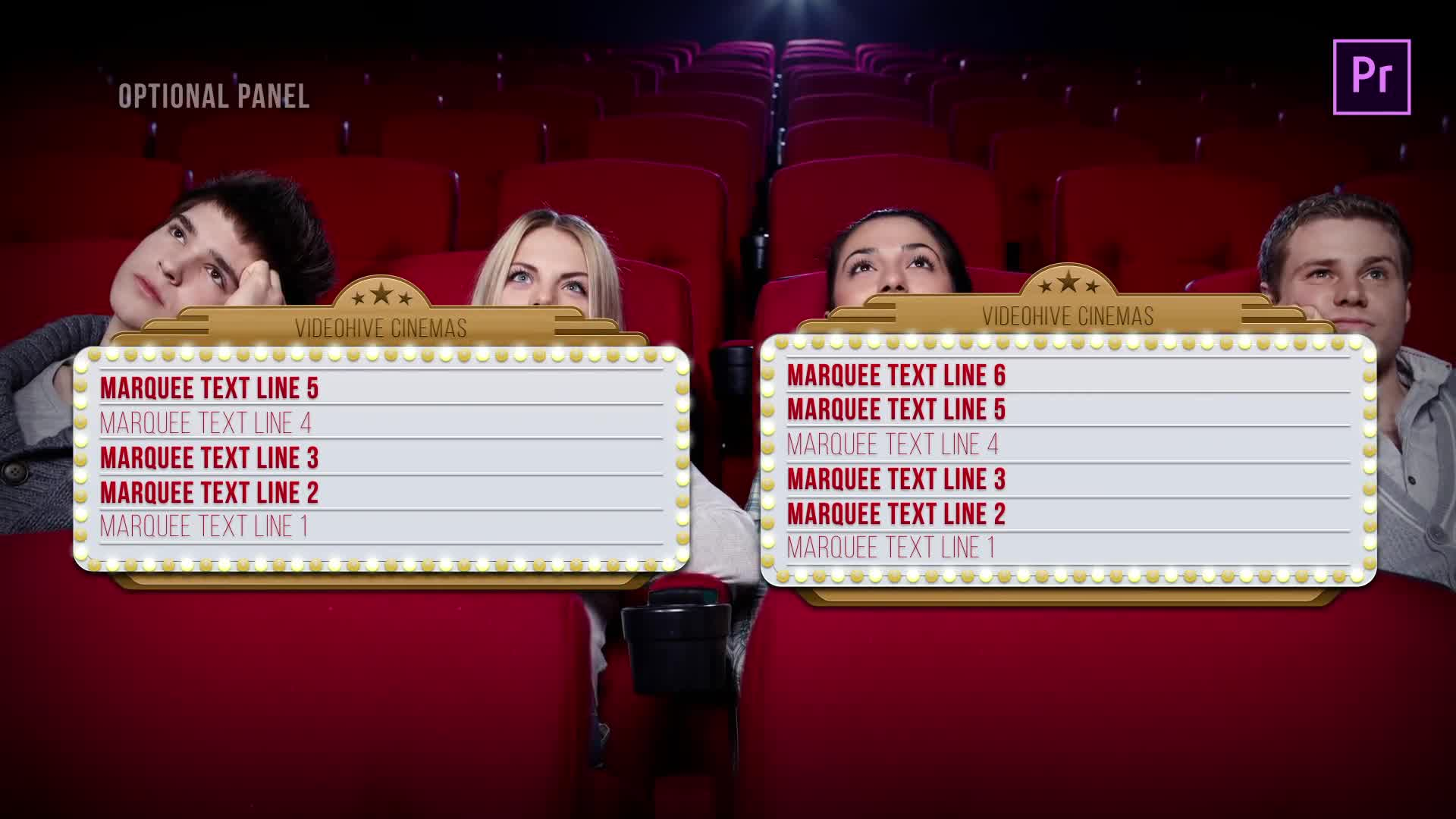 Marquee Lights Titles & Lower Thirds | MOGRT for Premiere Pro Videohive 24552539 Premiere Pro Image 8