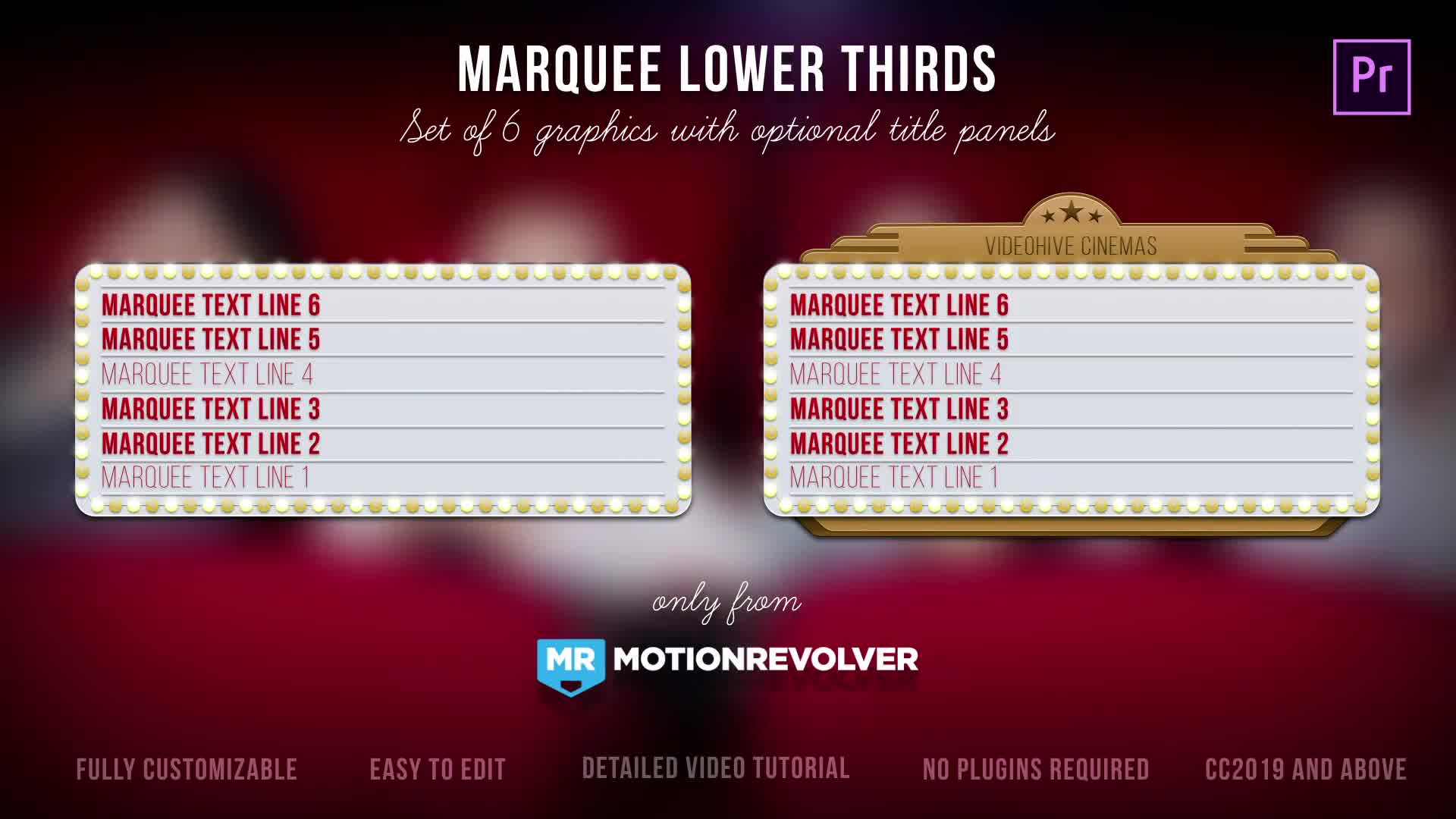 Marquee Lights Titles & Lower Thirds | MOGRT for Premiere Pro Videohive 24552539 Premiere Pro Image 9