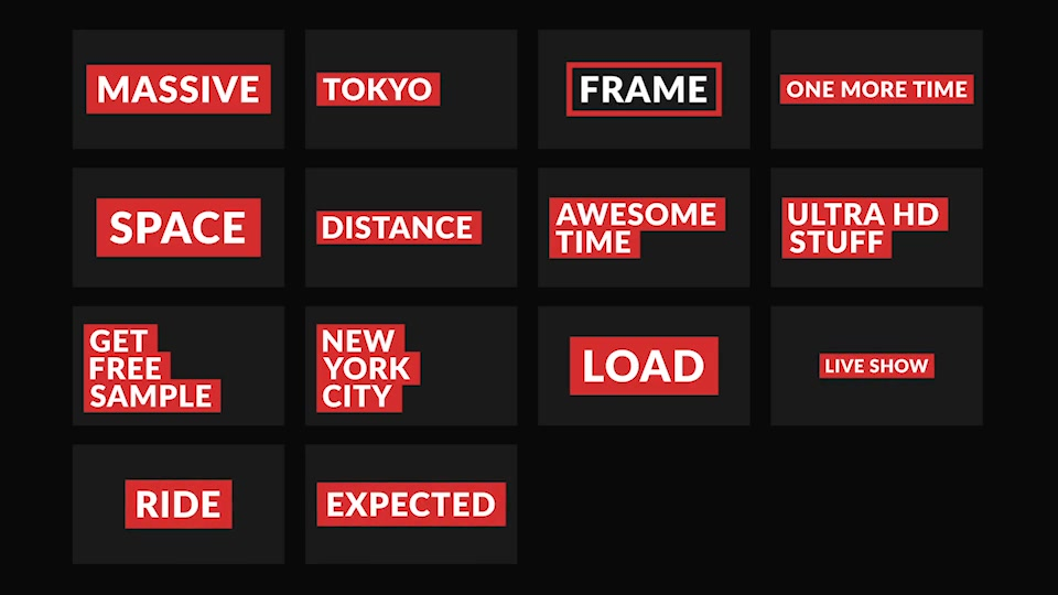 Massive | Titles Pack for After Effects - Download Videohive 21880085