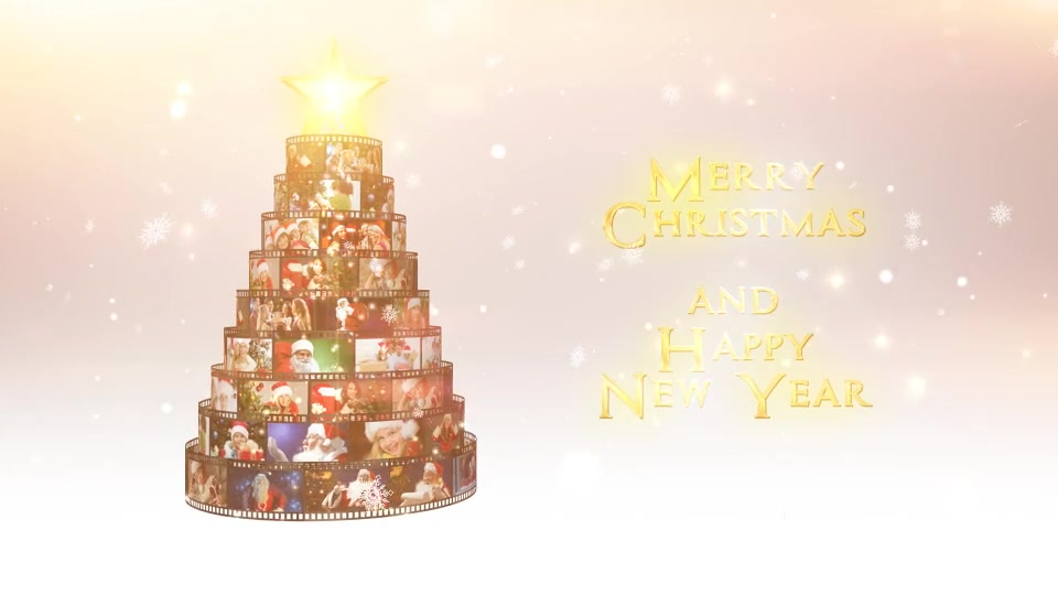 Merry Christmas Film Reel Wishes - Download Videohive 18996758