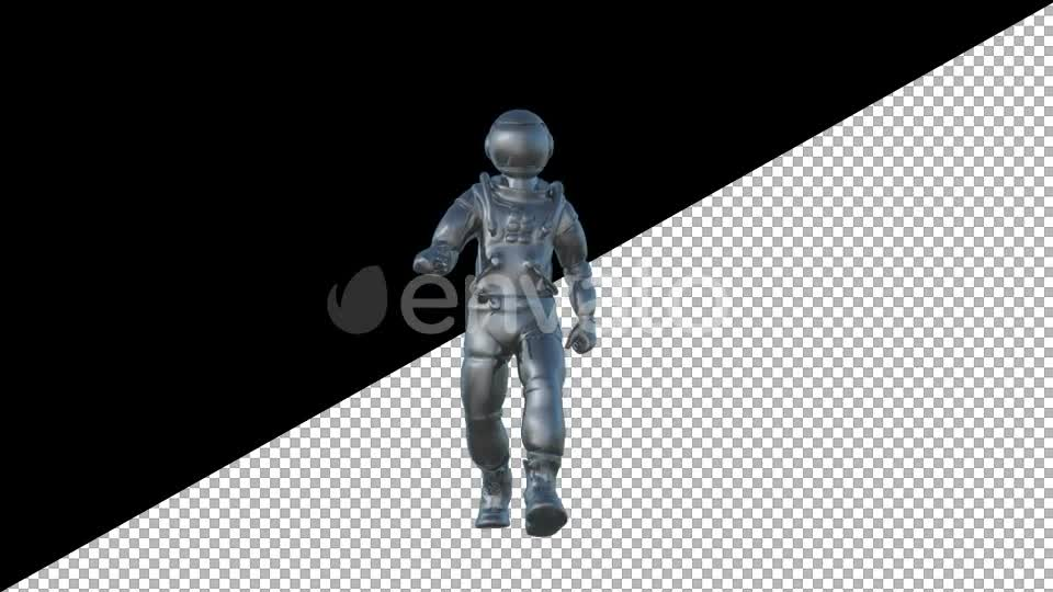 Metal Cosmonaut Walk Animation - Download Videohive 21604938