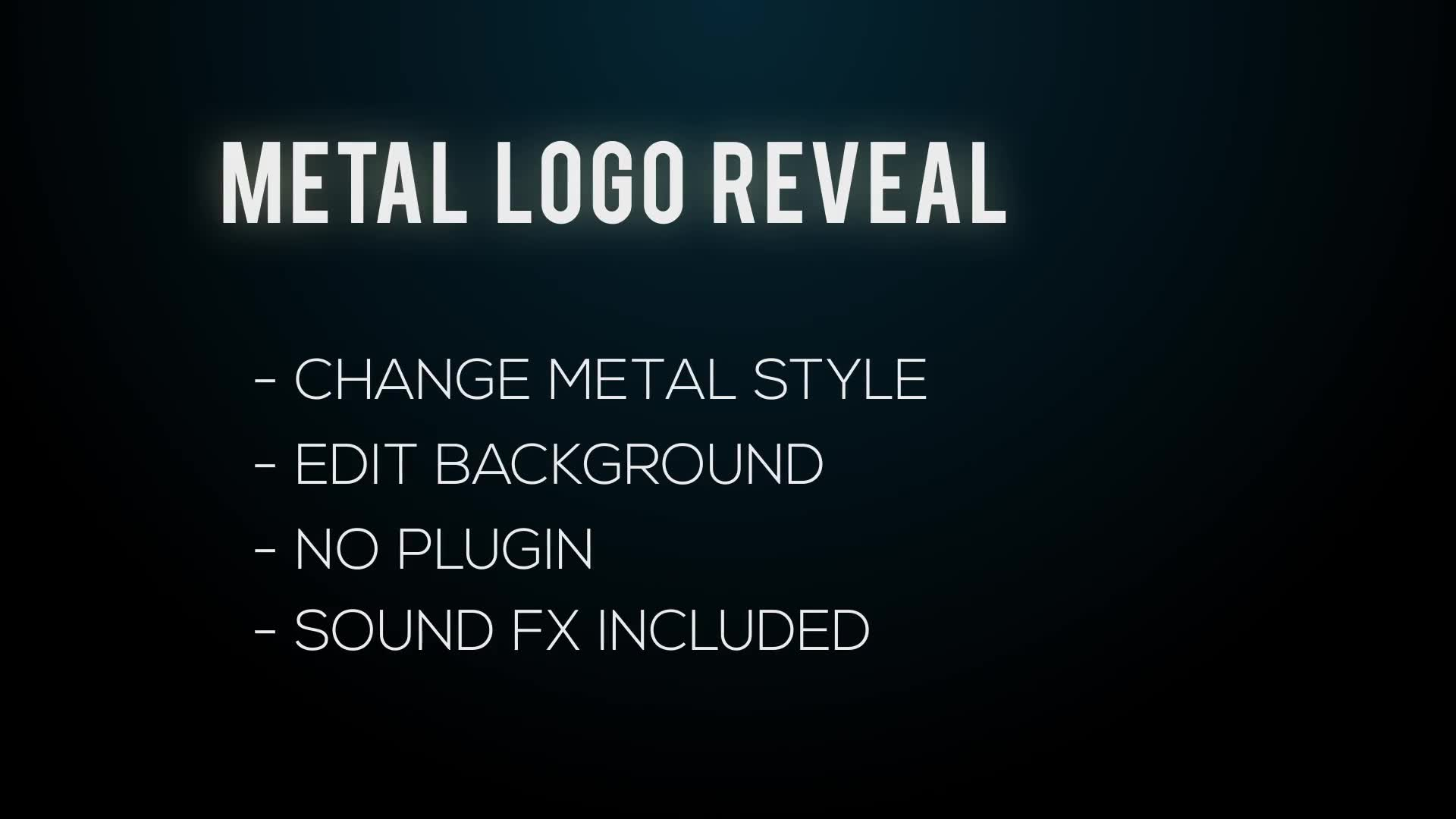 Metal Logo Reveal - Download Videohive 22086775