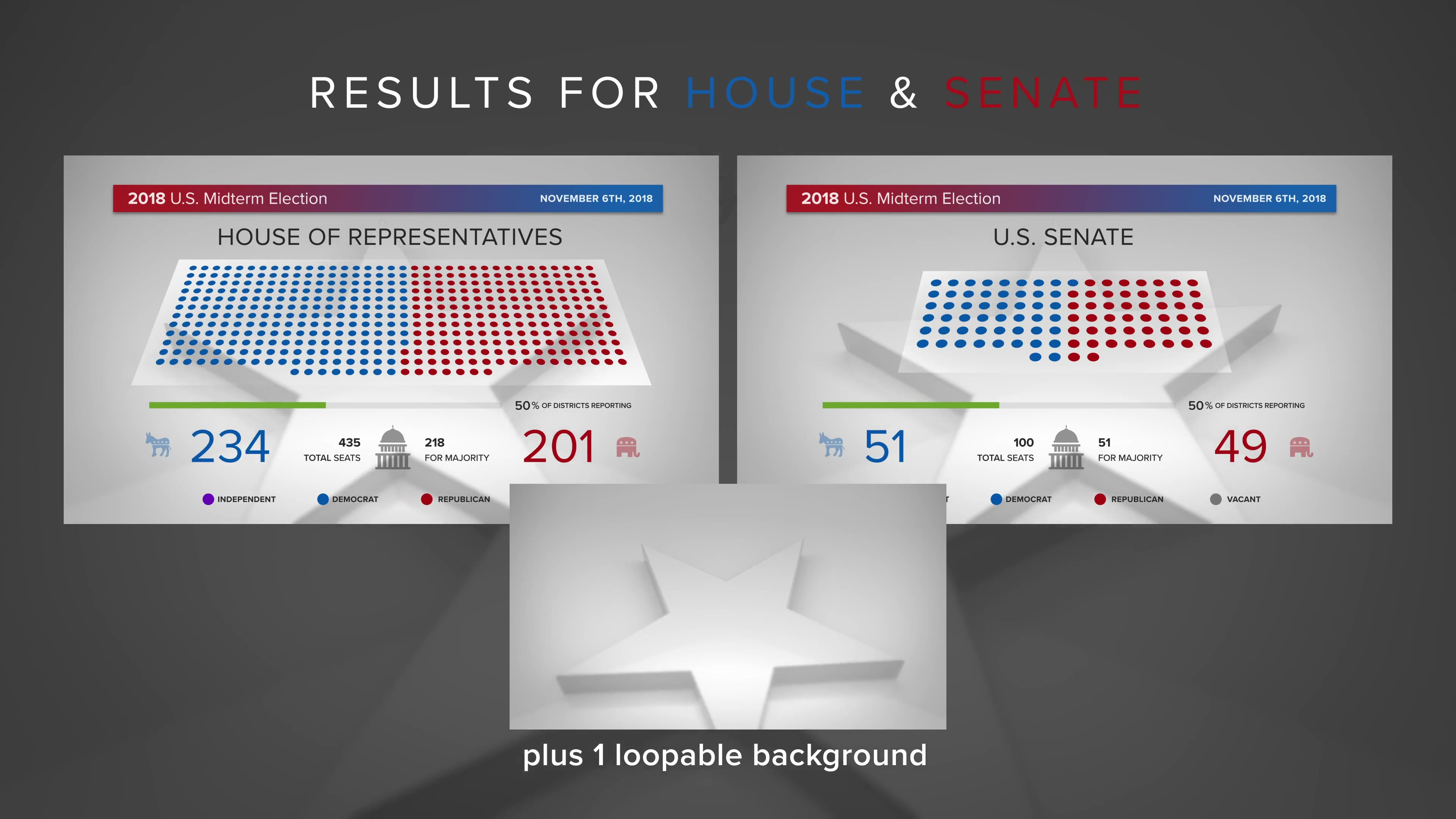 Midterm Election Elements | Congress & Senate - Download Videohive 22771895