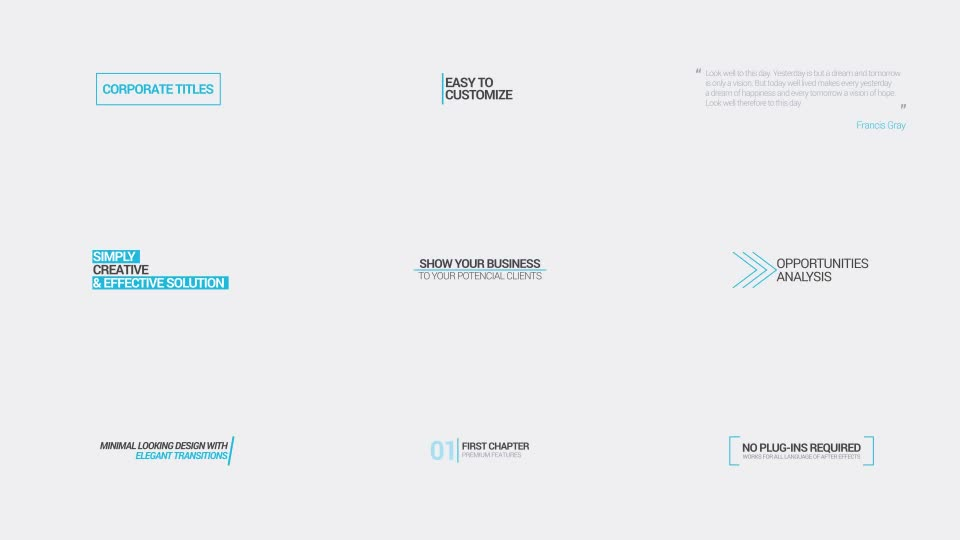 Minimal Corporate Titles - Download Videohive 16972747