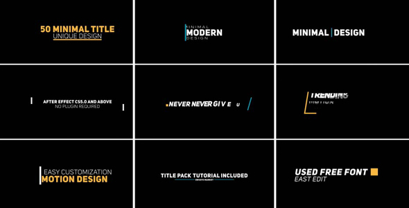 Minimal Modern Typography - Download Videohive 19393282