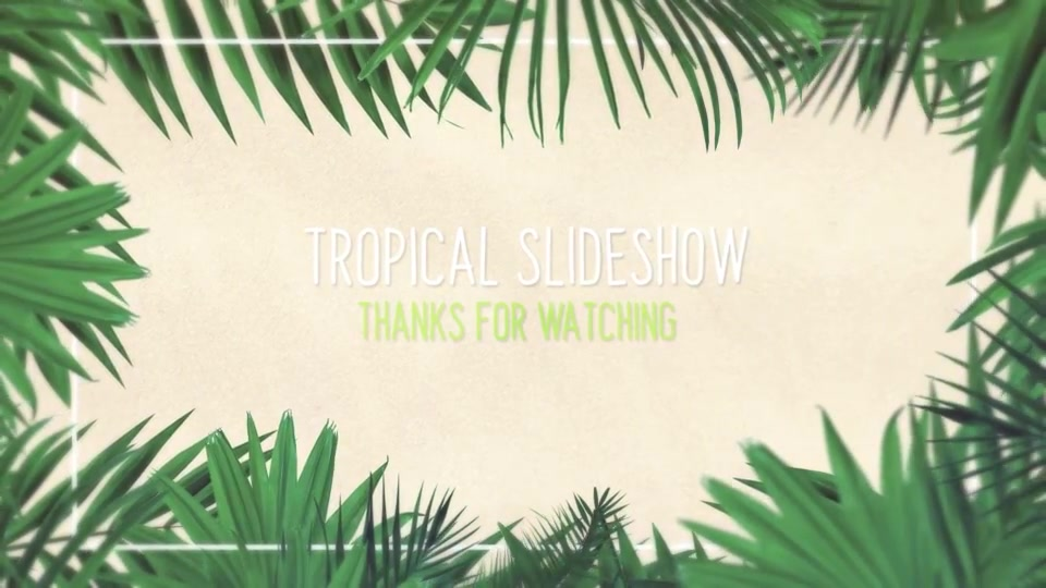 Minimal Tropical Slideshow Videohive 25855642 After Effects Image 12