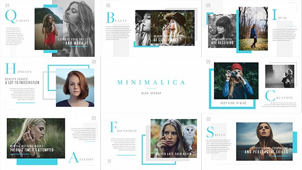 Minimalica // Blog Opener - Download Videohive 19314664