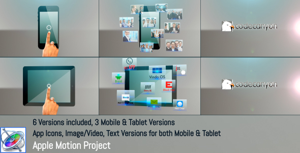 Mobile Tablet Apps Promo Apple Motion - Download Videohive 21362825