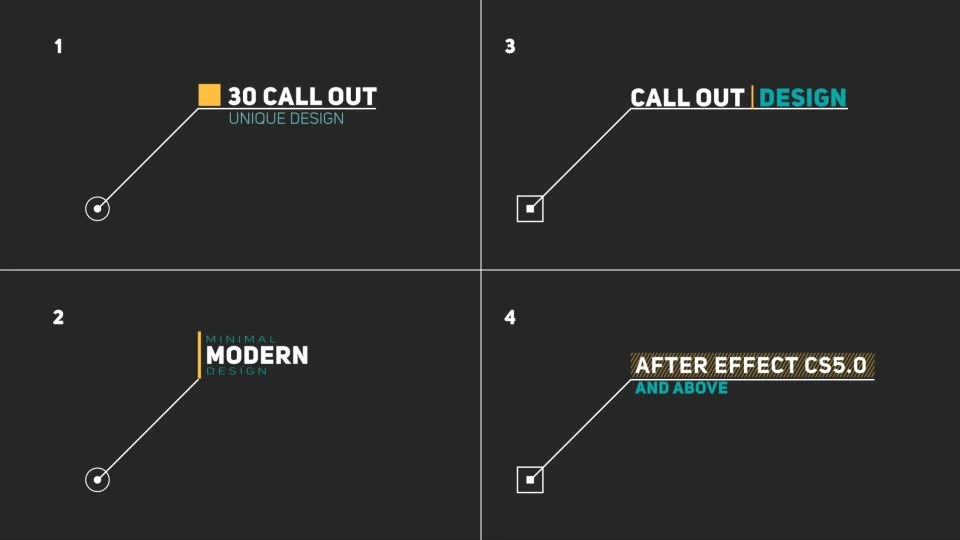 Modern Call Out Titles - Download Videohive 19620807