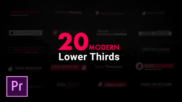 Modern Lower Thirds For Premiere Pro - Download Videohive 21952287