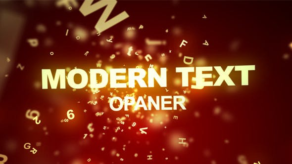 Modern Text Opener - Download Videohive 3547691