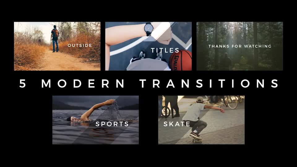 Modern Transitions 5 Pack - Download Videohive 18298717