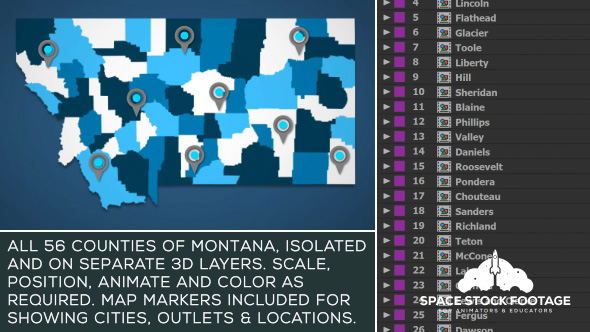 Montana Map Kit - Download Videohive 20871687