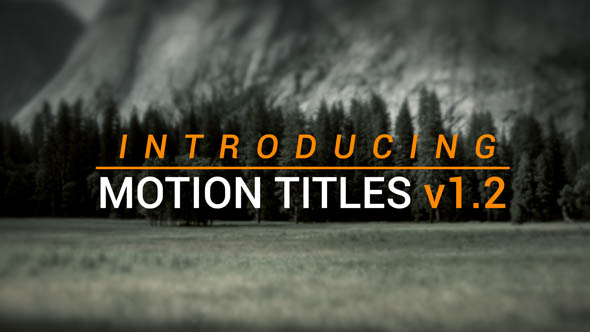 Motion Titles 4k - Download Videohive 16691026
