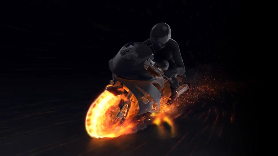 Motorcycle Fire Reveal - Download Videohive 22659715
