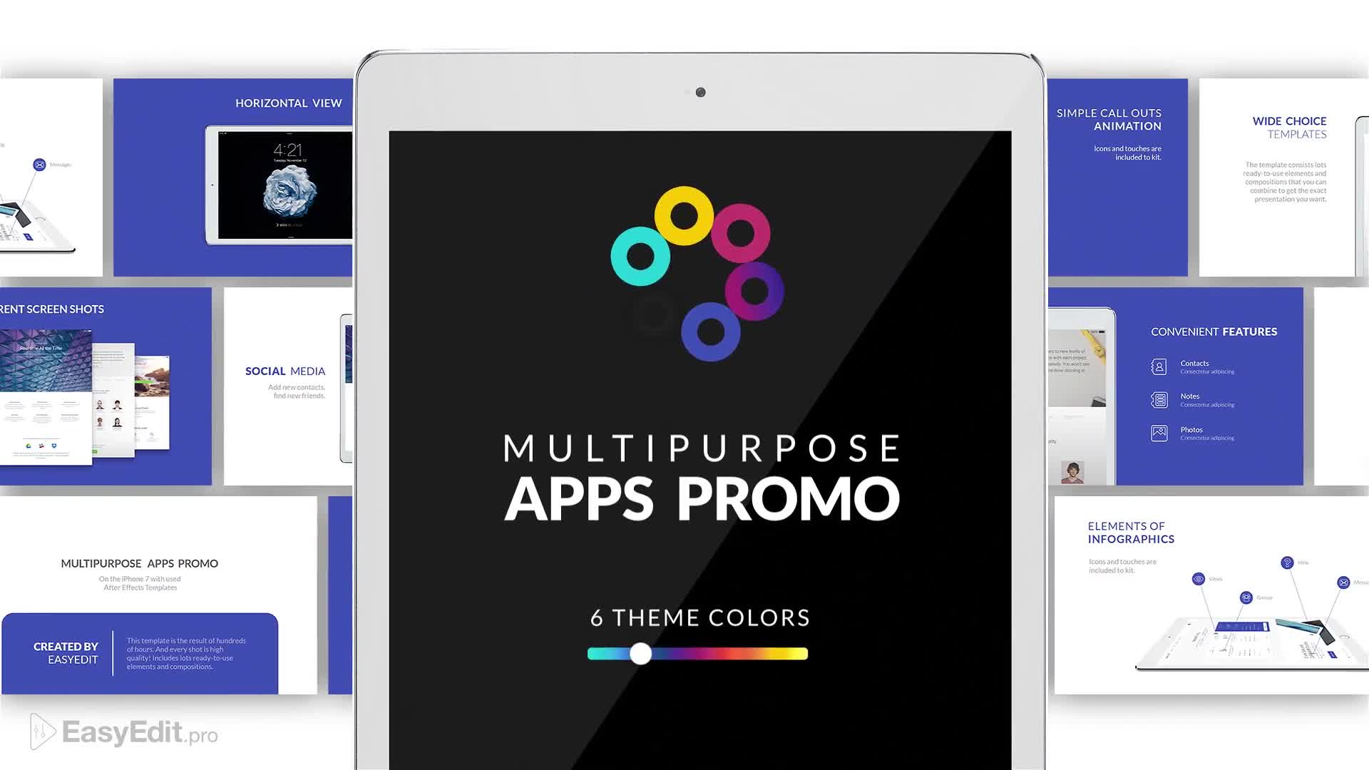 Multipurpose Apps Promo for Tablet - Download Videohive 19319344