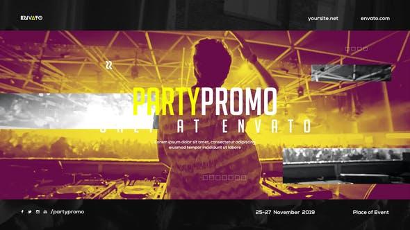 music event promo dynamic opener party invitation. Black Bedroom Furniture Sets. Home Design Ideas