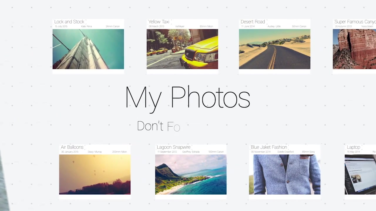 My Photos Slideshow - Download Videohive 12969056