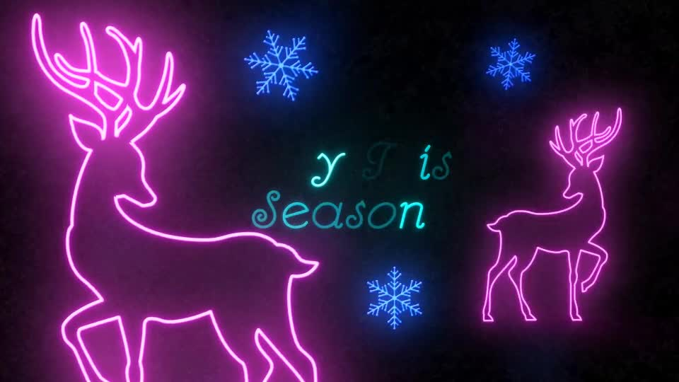 Neon Light Christmas - Download Videohive 22892071
