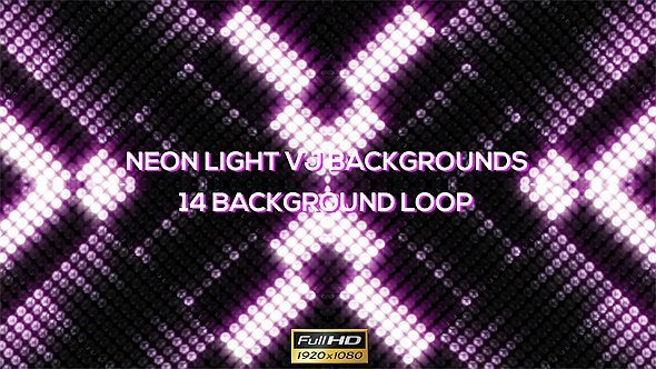 Neon Round Lights VJ Backgrounds 14 Pack - Download Videohive 11772515