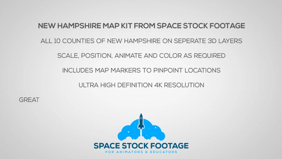 New Hampshire Map Kit - Download Videohive 20822489