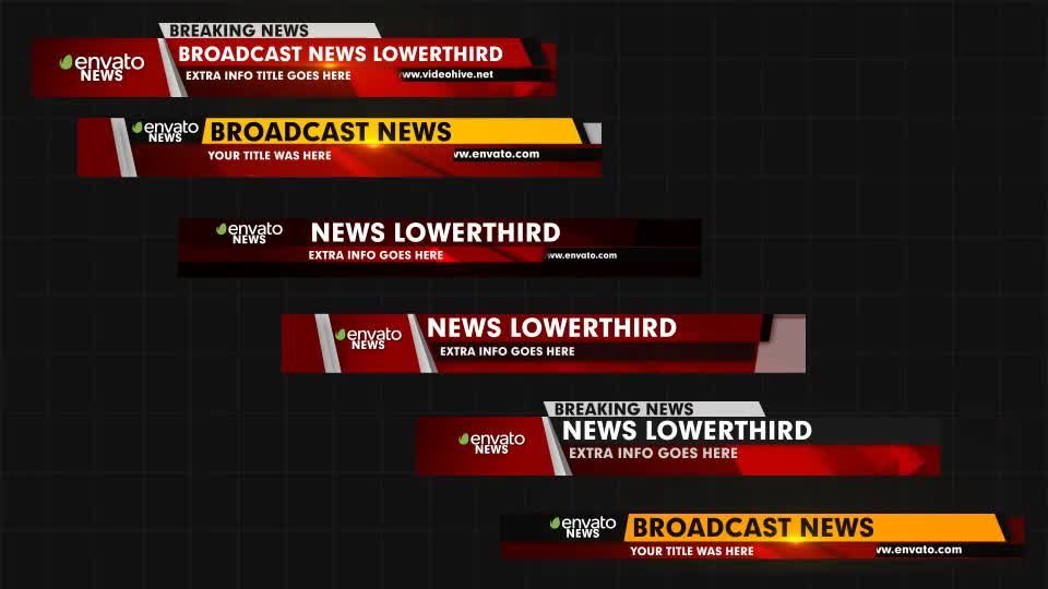 News Lower Thirds - Download Videohive 18559721