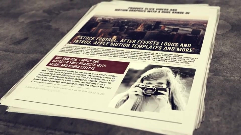 Newspaper After Effects Template Free Download Boatjeremyeatonco - After effects news template