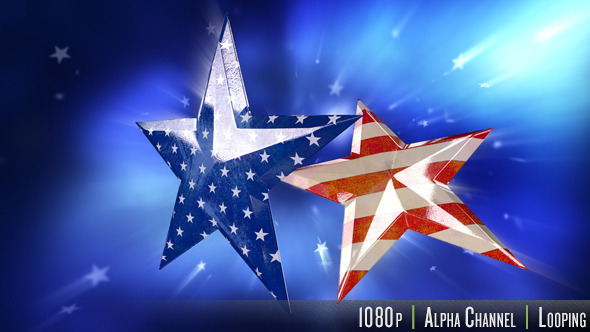 Old Faded USA American Flag in Stars - Download Videohive 11616121