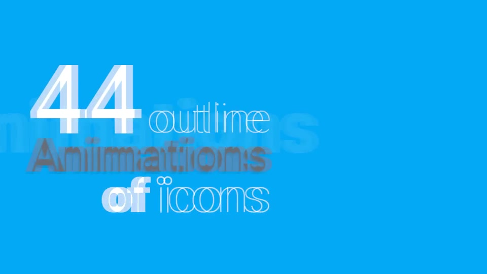 Outline Icons Animations Pack Videohive 11144609 After Effects Image 2