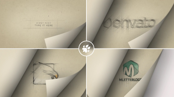 Page Flip Sketch Logo - Download Videohive 20144466