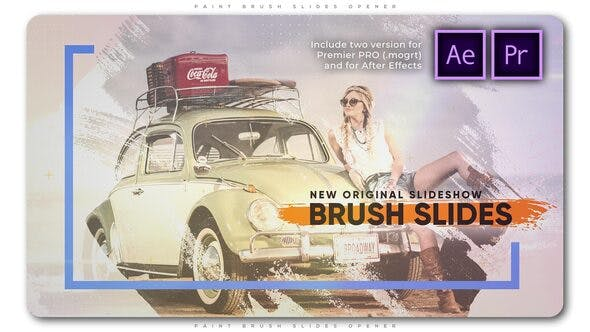Paint Brush Slides Opener - Download Videohive 27179045