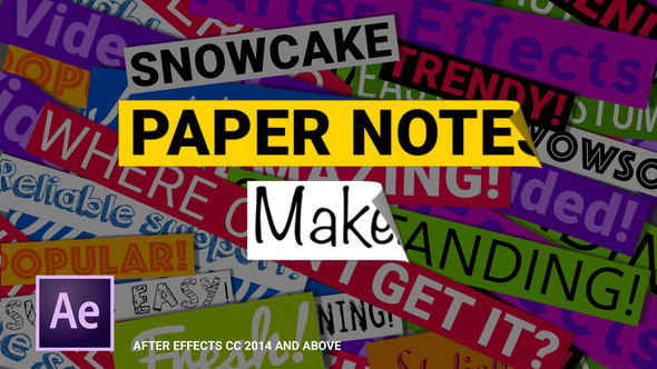 Paper Notes Maker Titles and Lower Thirds - Download Videohive 21616486