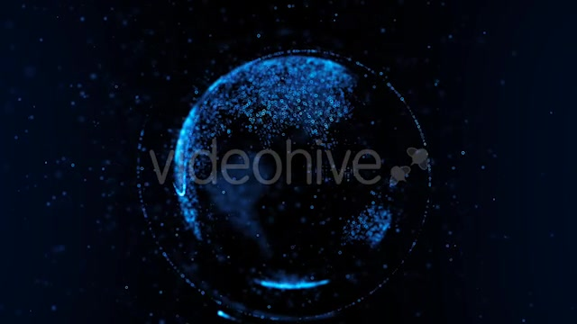 Particle Earth Hologram - Download Videohive 20619687