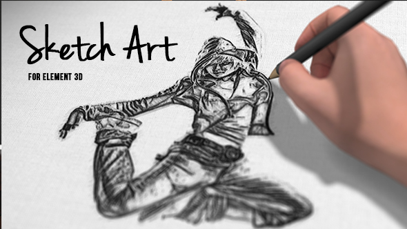 Pencil sketch art download videohive 17913816