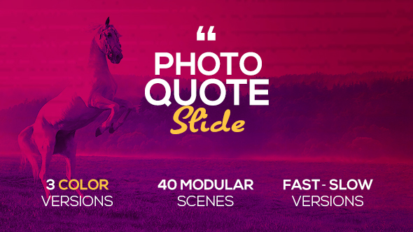 Photo Quote Slide - Download Videohive 19687833