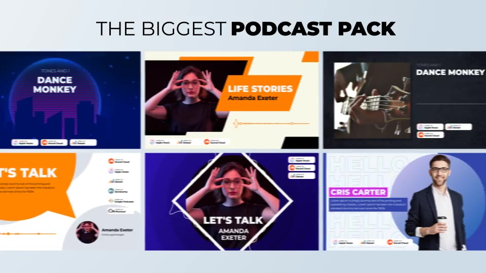 Podcast Visualizations Pack Videohive 27588818 After Effects Image 3