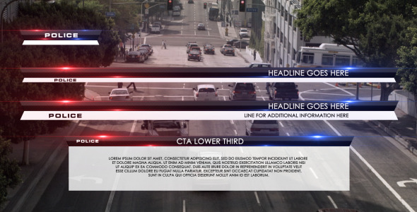 Police Lower Third - Download Videohive 3192904