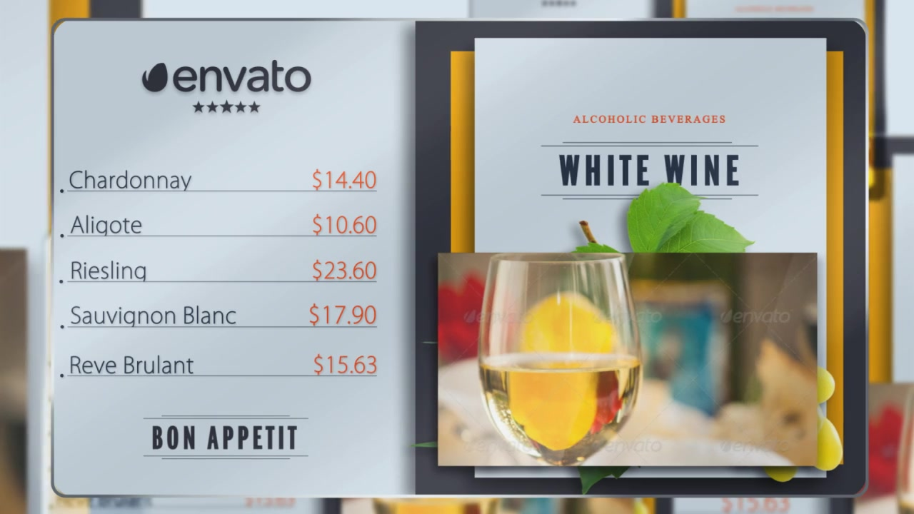 Presentation of Menu (Color Control) Videohive 17357325 After Effects Image 8