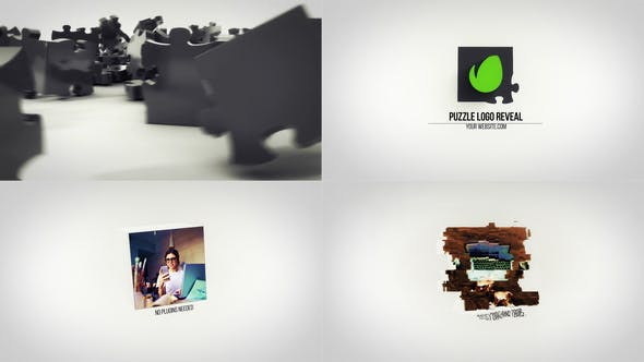 Puzzle Logo Reveal - Videohive Download 25103722