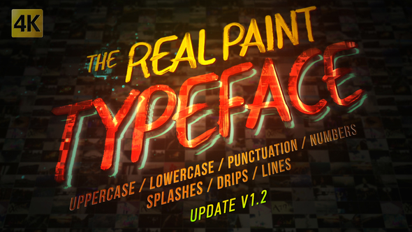Real Paint Typeface Kit - Download Videohive 19688638
