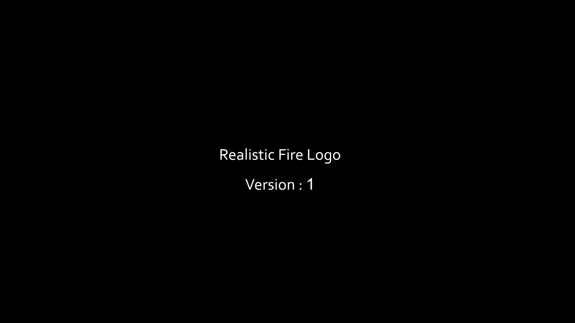 Realistic Fire Logo 2 - Download Videohive 20537273