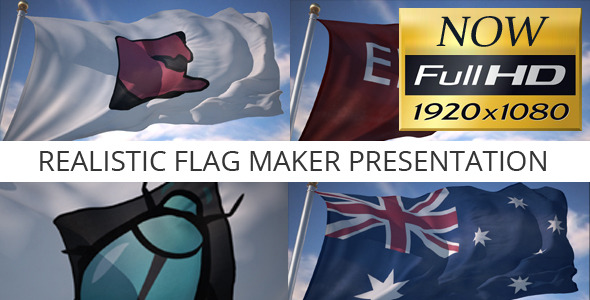 Realistic Flag Maker Presentation - Download Videohive 3075352
