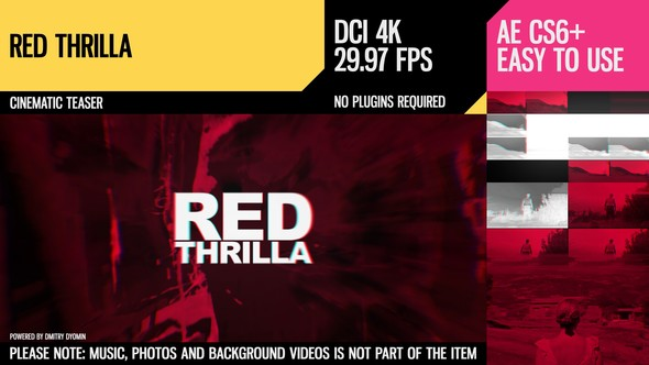 Red Thrilla (4K Cinematic Teaser) - Download Videohive 19000530